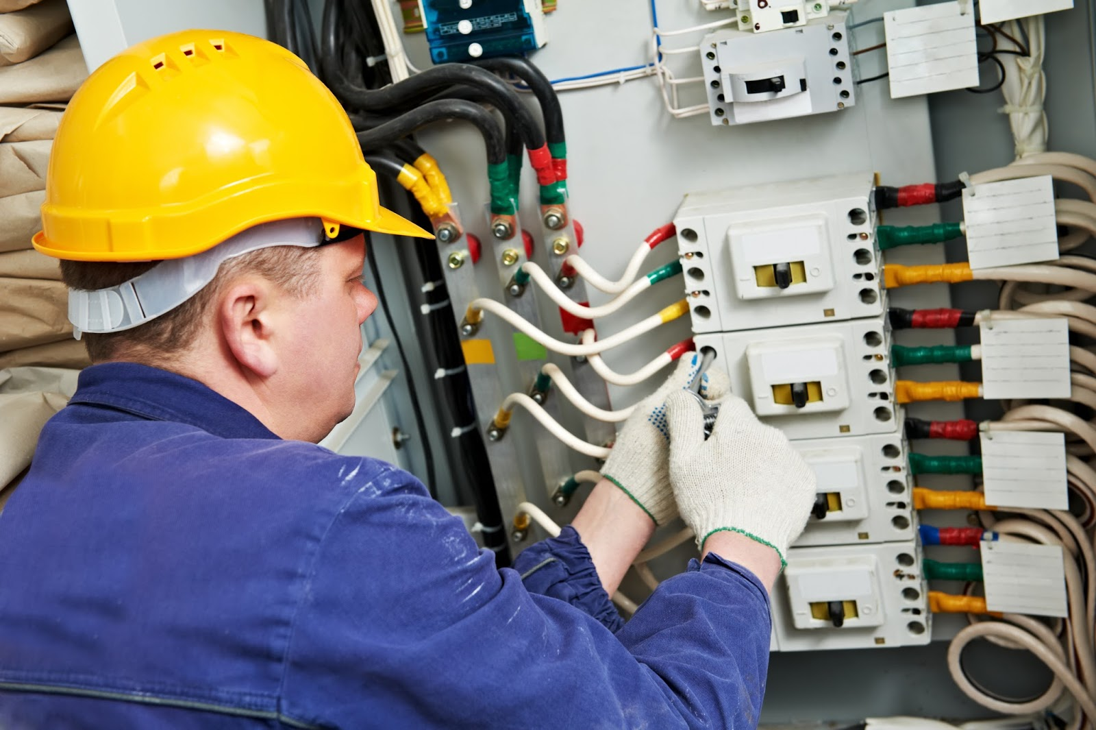Works of repair,finishing and electrical installation